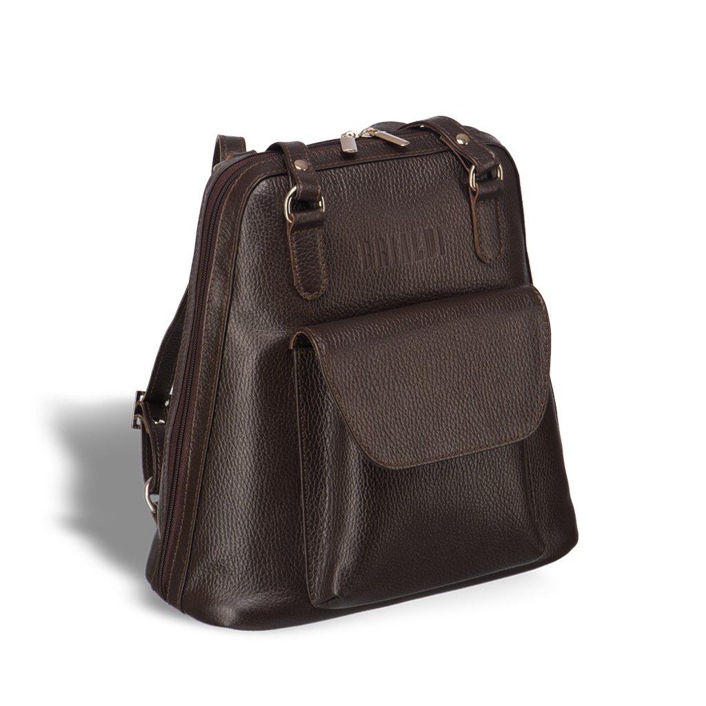 Купить Женская сумка-рюкзак трапециевидной формы BRIALDI Beatrice (Биатрис) relief brown, Италия, Коричневый, Рельефная натуральная кожа Canyon