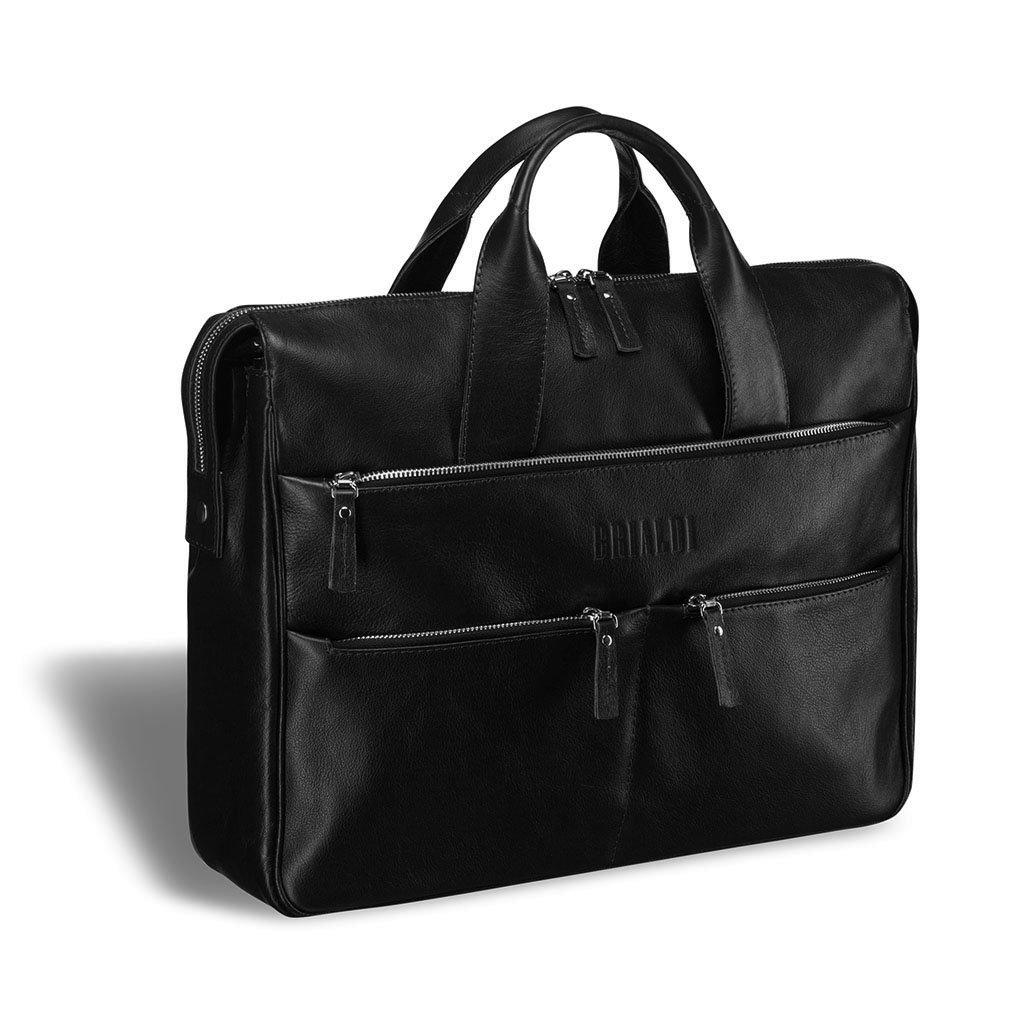 Купить Вместительная деловая сумка BRIALDI Manchester (Манчестер) black, Италия, Черный, Натуральная кожа высококачественной выделки, сорт Great Nappa