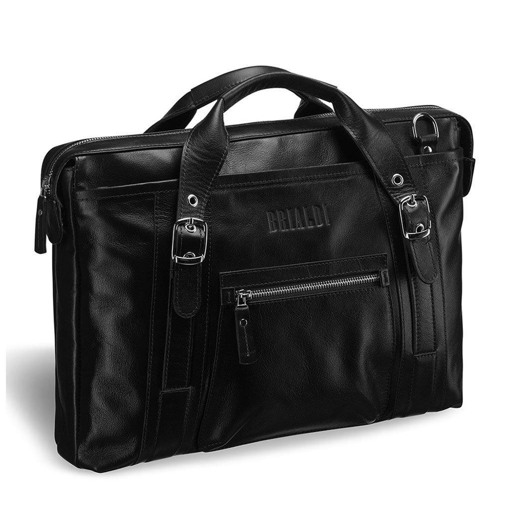 Купить Деловая сумка BRIALDI Navara (Навара) black, Италия, Черный, Натуральная кожа высококачественной выделки, сорт Great Nappa