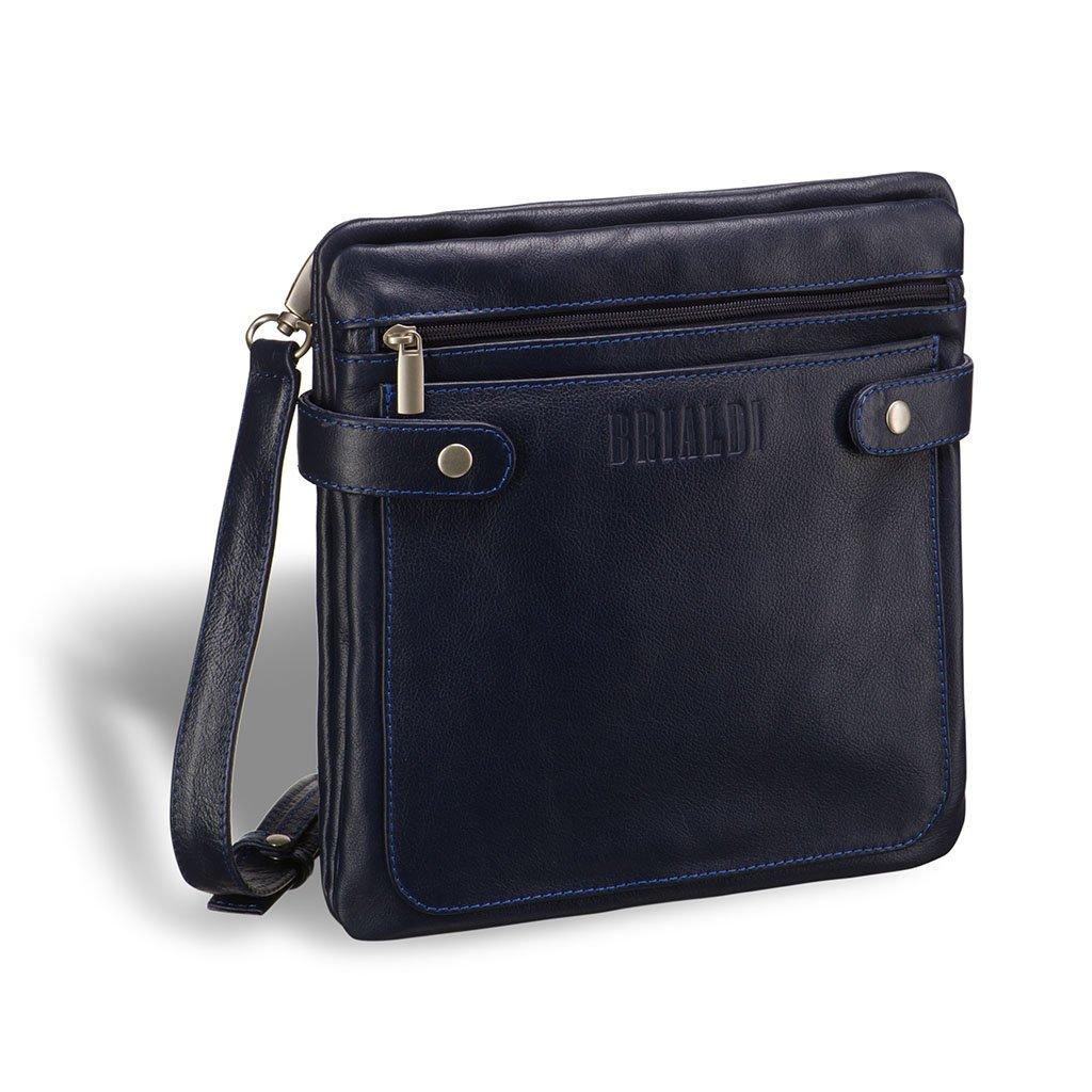 Купить со скидкой Кожаная сумка через плечо BRIALDI Nevada (Невада) navy