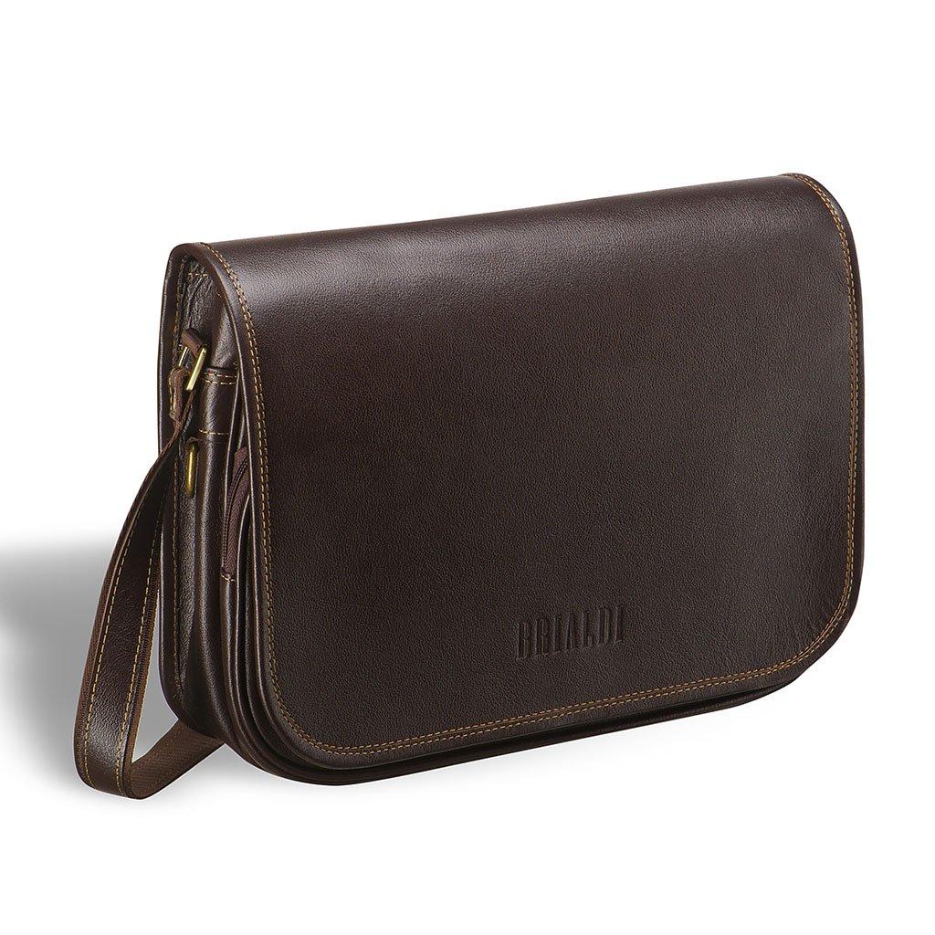 Купить Кожаная сумка через плечо BRIALDI Cambridge (Кембридж) brown, Италия, Коричневый, Натуральная кожа высококачественной выделки, сорт Great Nappa