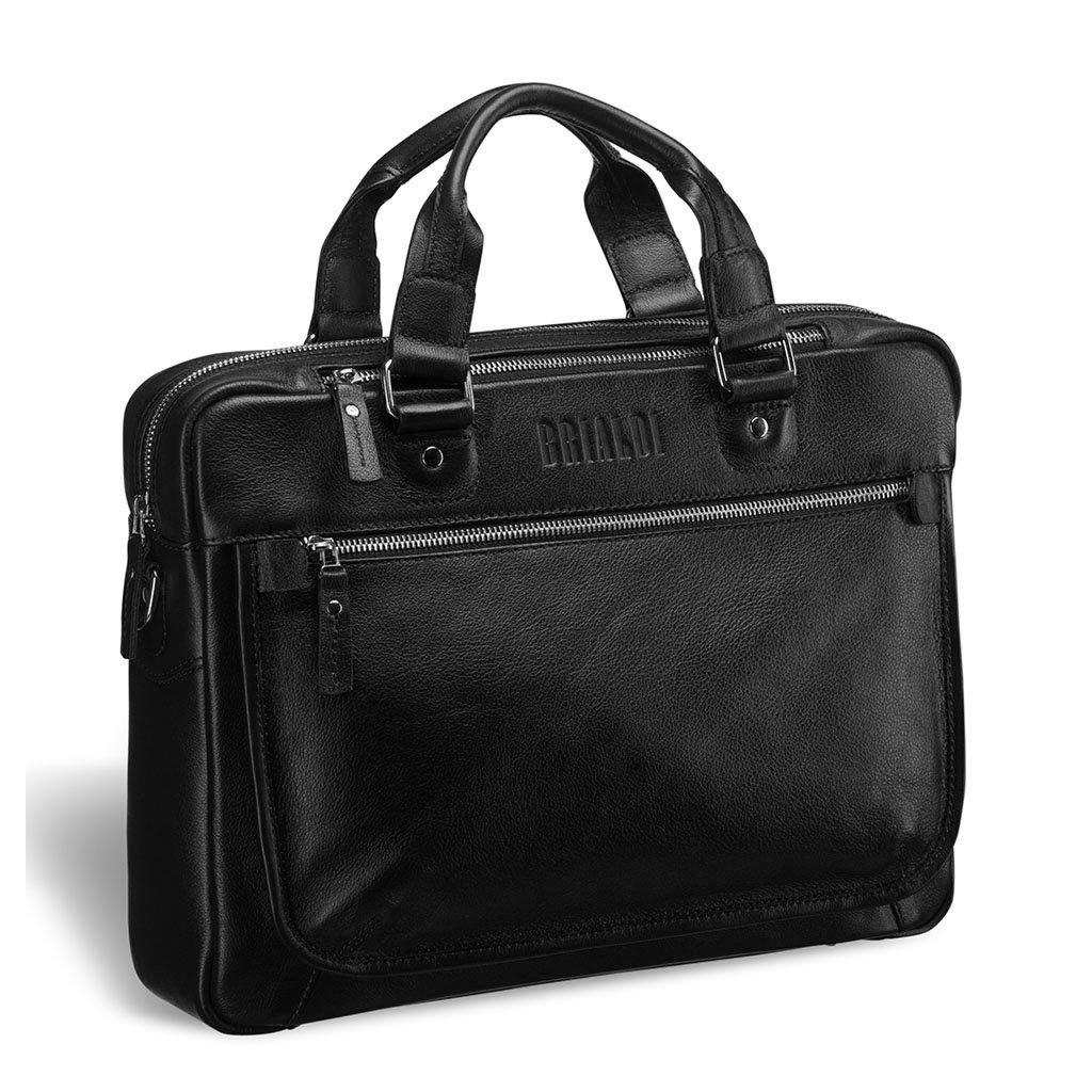 Купить Деловая сумка BRIALDI York (Йорк) black, Италия, Черный, Натуральная кожа высококачественной выделки, сорт Great Nappa
