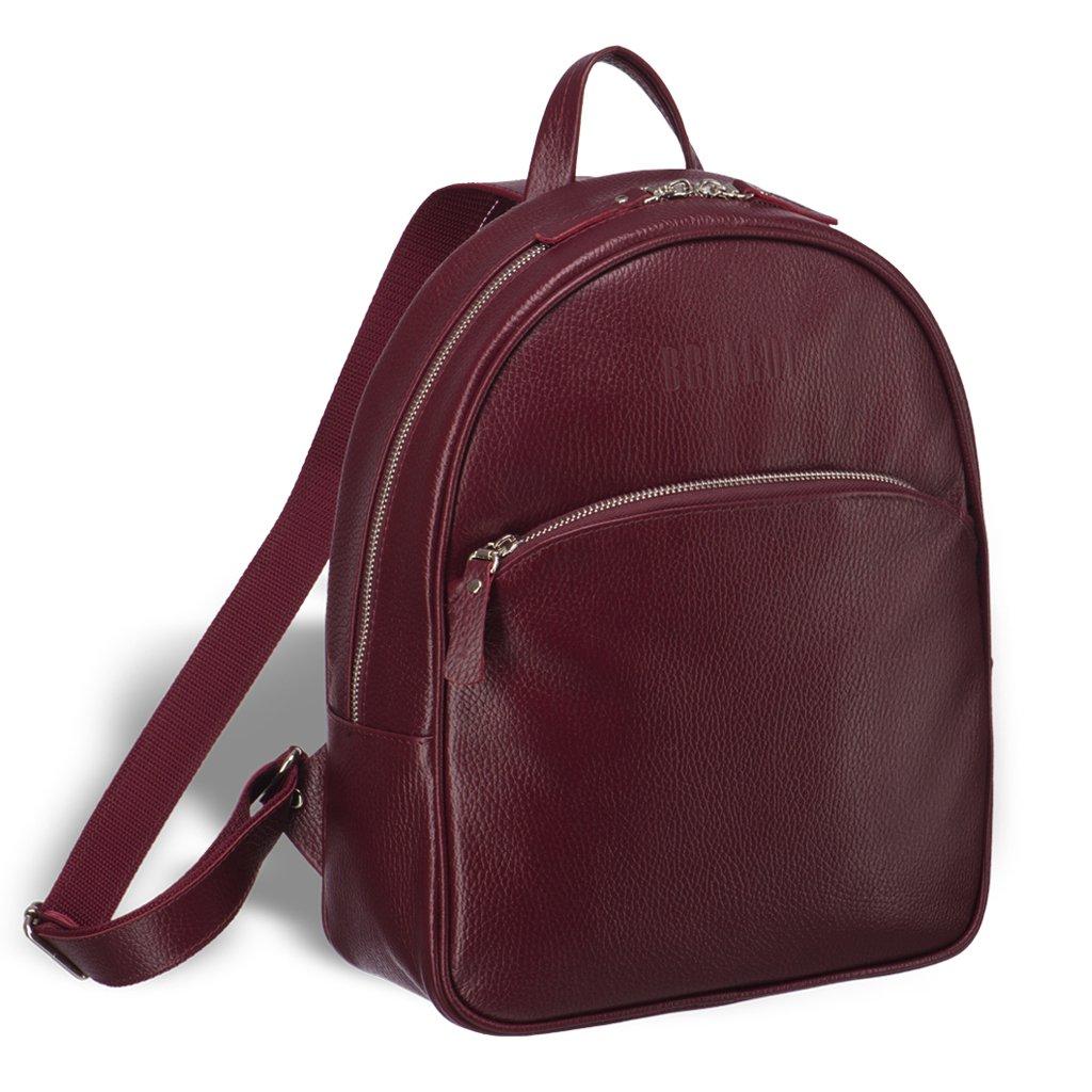 Купить Удобный женский рюкзак BRIALDI Melbourne (Мельбурн) relief cherry, Италия, Бордовый, Рельефная натуральная кожа Canyon