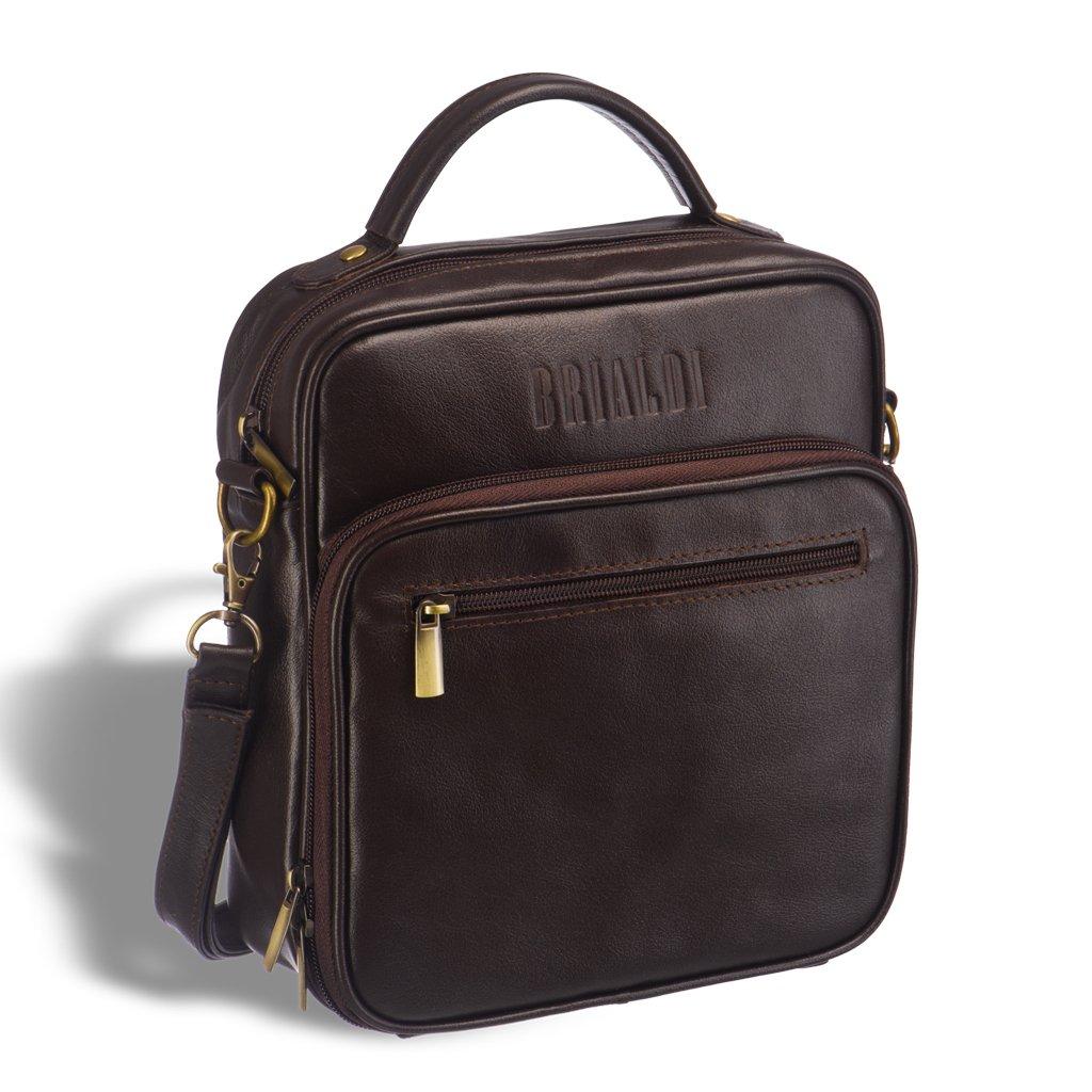 Купить Кожаная сумка через плечо BRIALDI Aledo (Аледо) brown, Италия, Коричневый, Натуральная кожа высококачественной выделки Great Nappa
