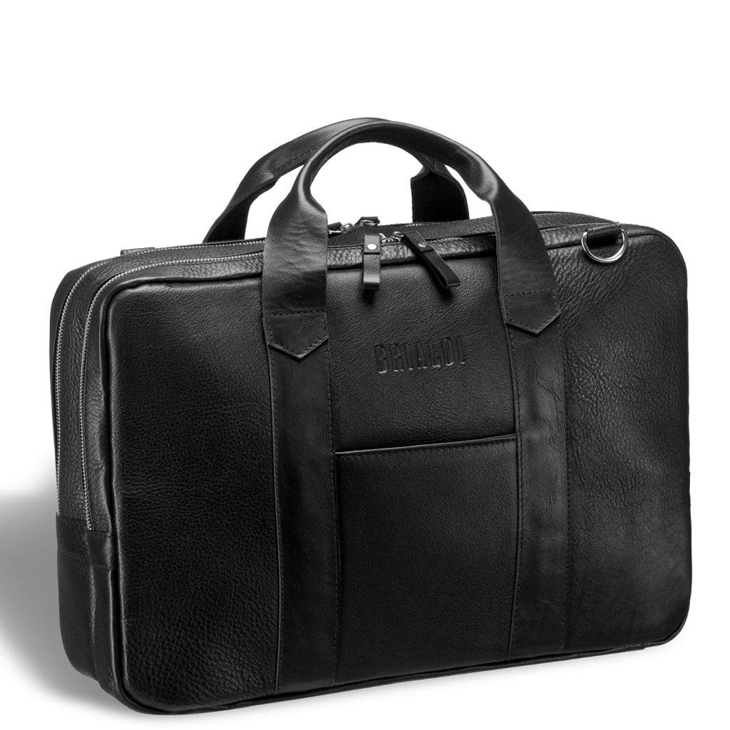 Купить Деловая сумка с двумя автономными отделениями BRIALDI Grand Atengo (Гранд Атенго) black, Италия, Черный, Натуральная кожа высококачественной выделки CANYON
