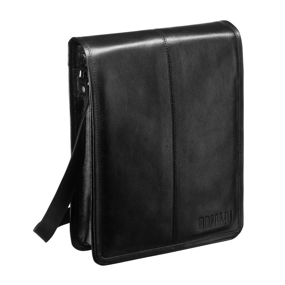 Купить Кожаная сумка через плечо BRIALDI Boston (Бостон) black, Италия, Черный, Натуральная кожа высококачественной выделки, сорт Great Nappa