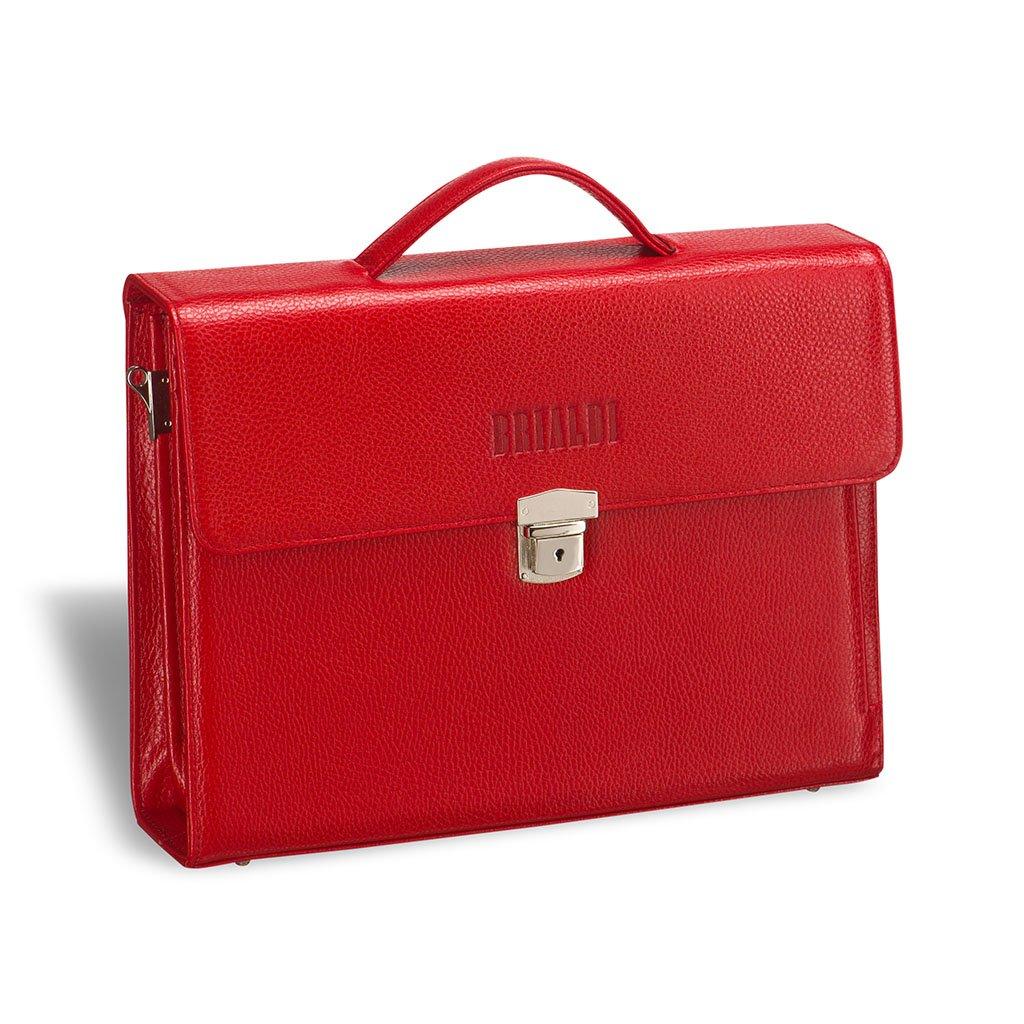 Купить Женский деловой портфель BRIALDI Blanes (Бланес) relief red, Италия, Красный, Натуральная кожа высококачественной выделки Canyon