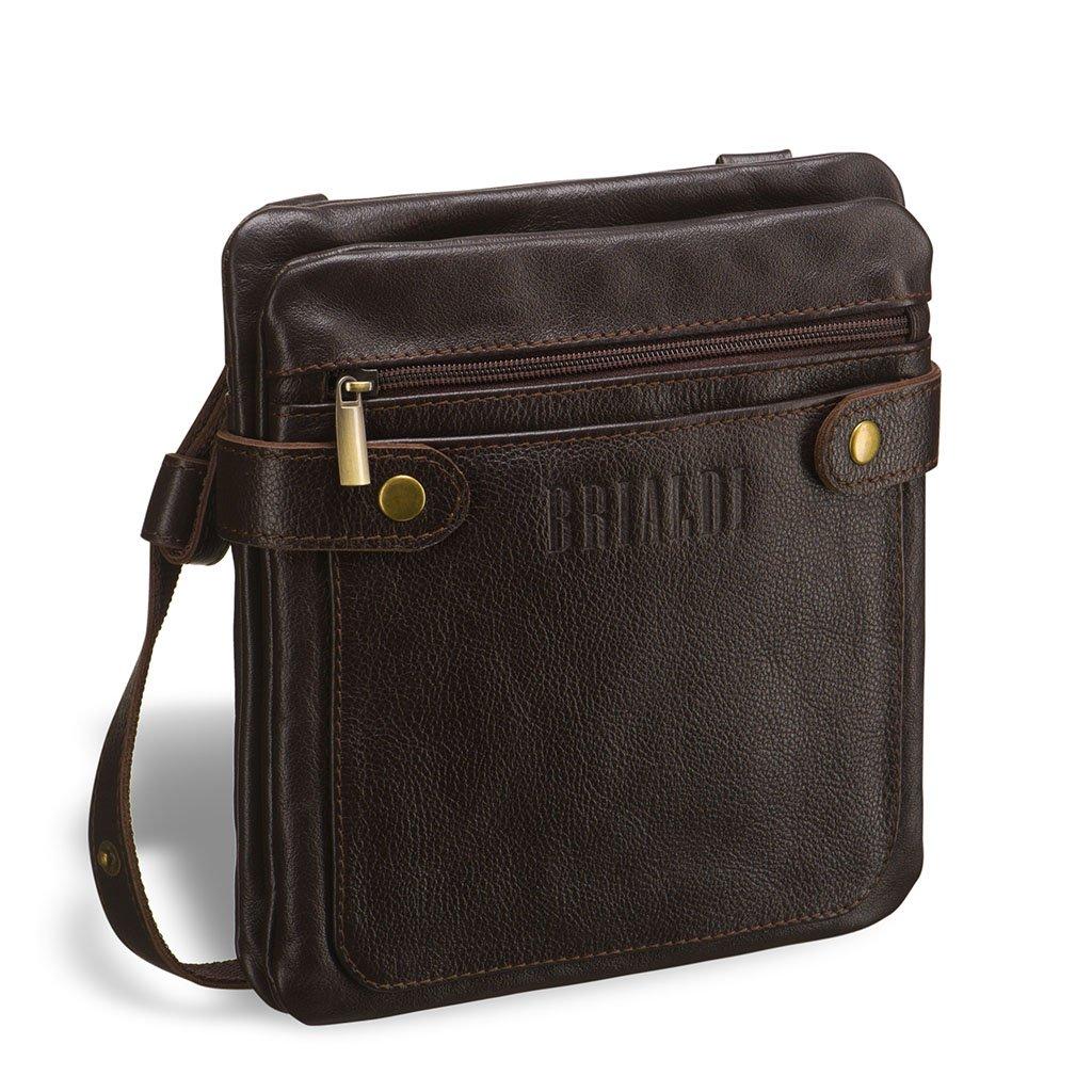 Купить со скидкой Кожаная сумка через плечо BRIALDI Newport (Ньюпорт) brown