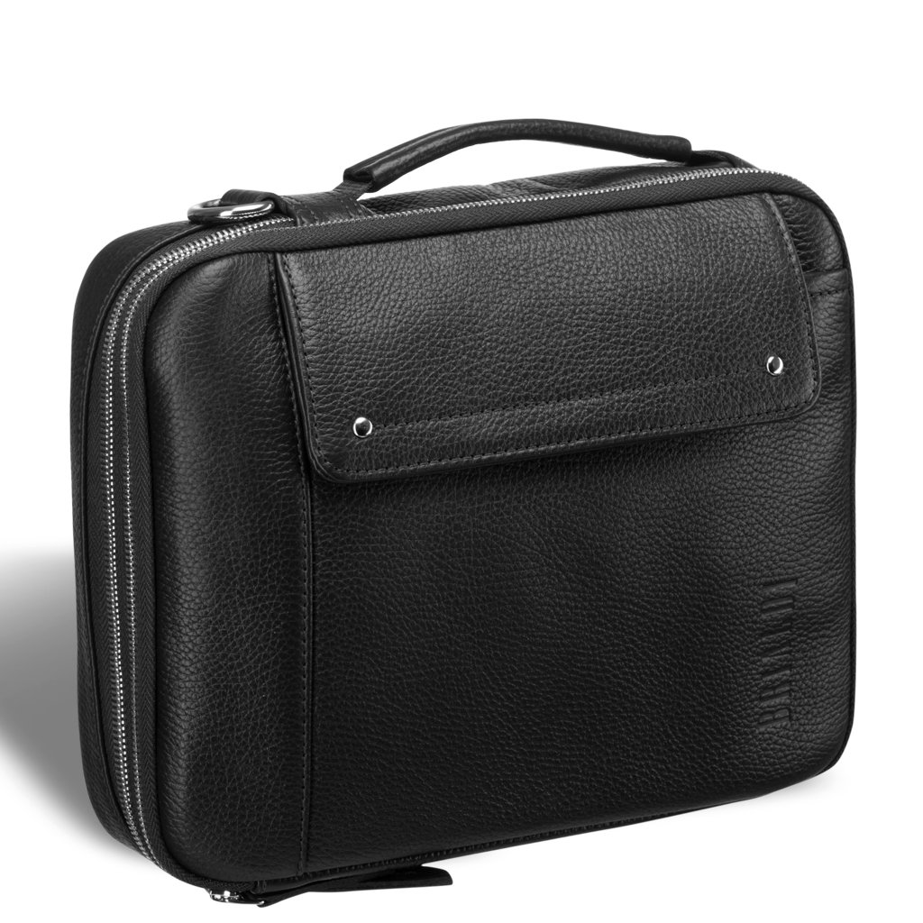 Купить Оригинальная сумка через плечо mini-формата BRIALDI Montone (Монтоне) relief black, Италия, Черный, Натуральная кожа Canyon