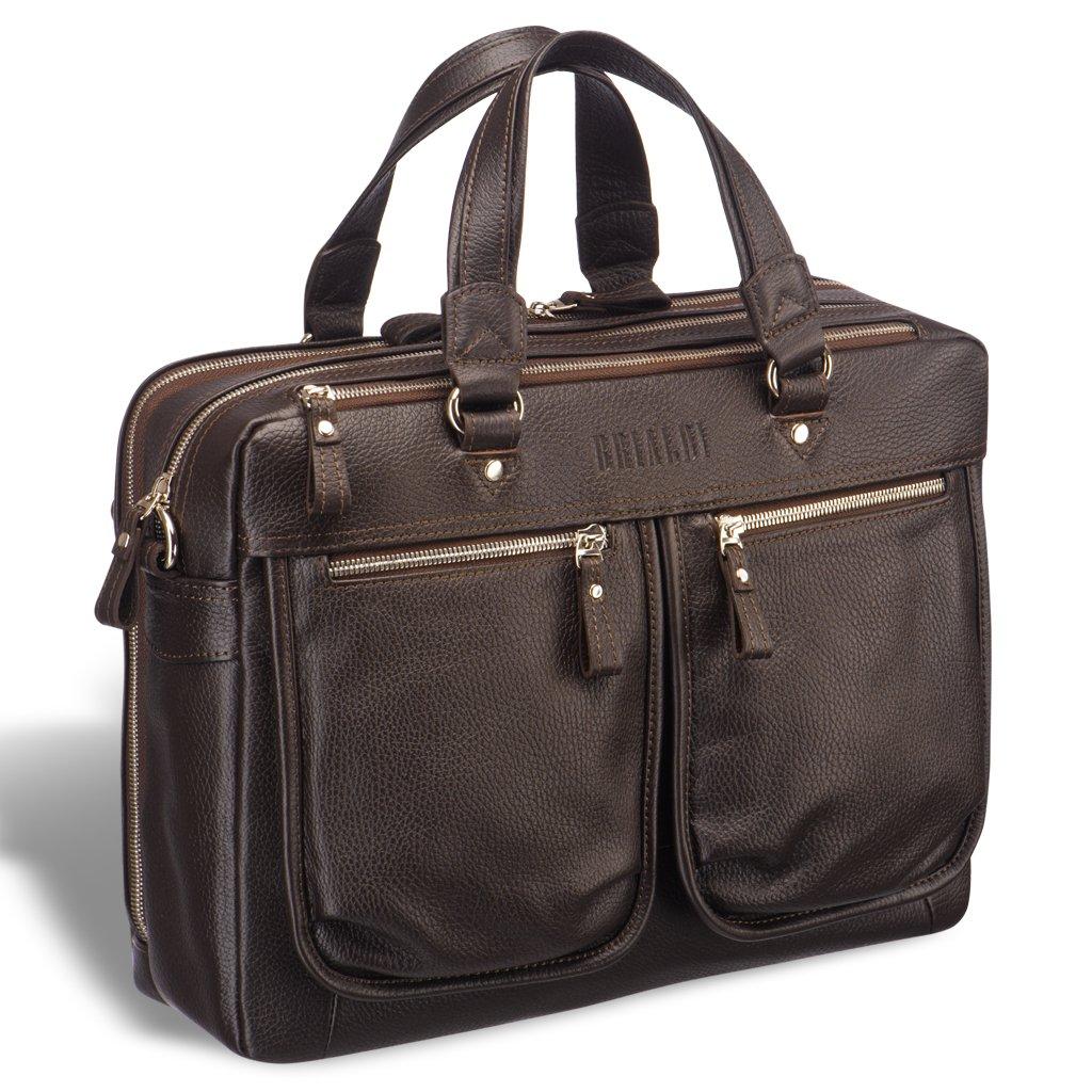 Купить со скидкой Вместительная деловая сумка с двумя отделениями BRIALDI Arce (Арчи) relief brown