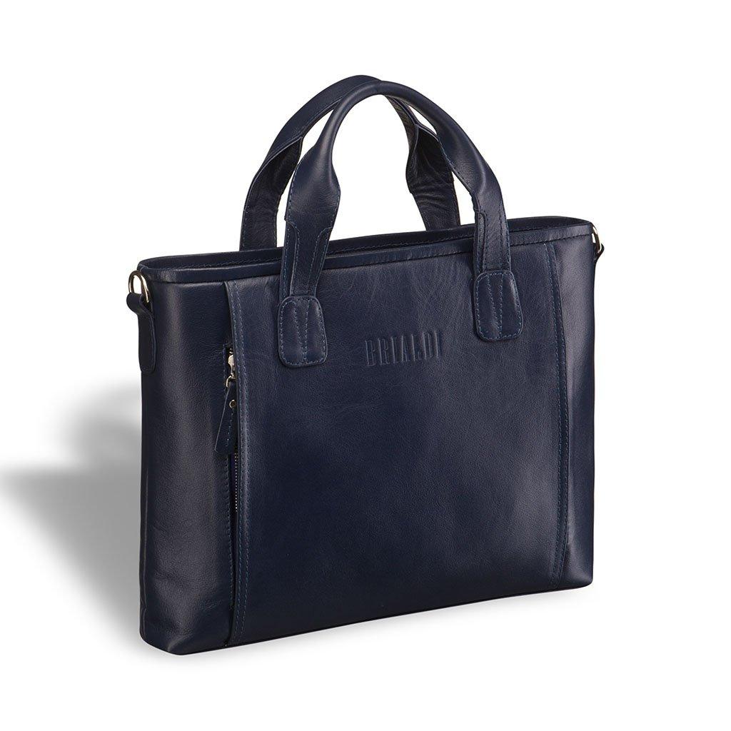 Купить Деловая сумка BRIALDI Mestre (Местре) navy, Италия, Синий, Натуральная кожа высококачественной выделки Great Nappa
