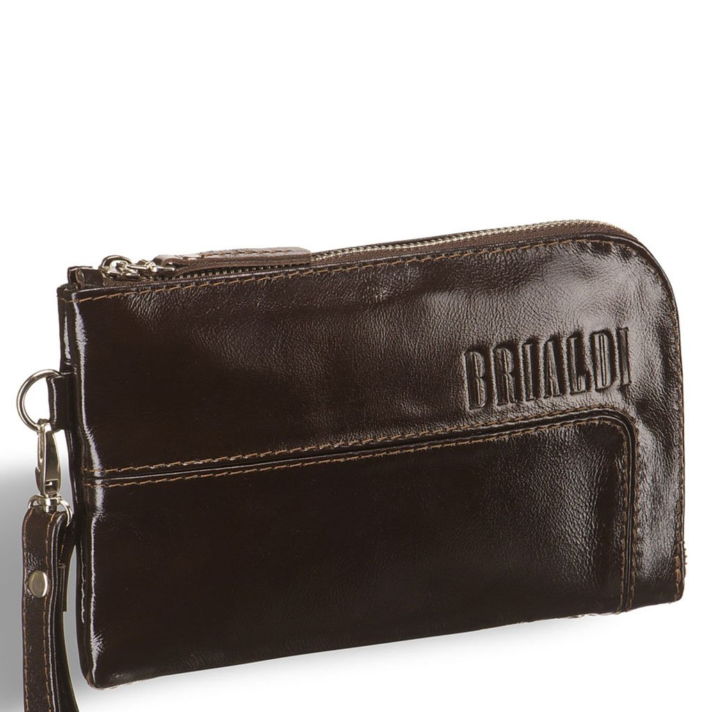 Купить Мужской клатч BRIALDI Mobile (Мобил) shiny brown, Италия, Коричневый, Натуральная кожа высококачественной выделки, сорт Solid Nappa