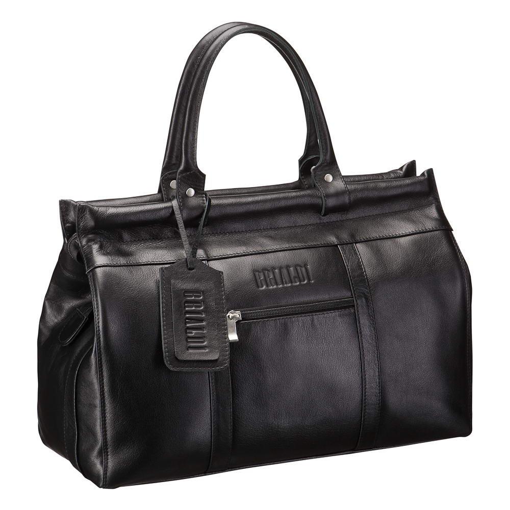 Купить Городской саквояж BRIALDI Midland (Мидленд) black, Италия, Черный, Натуральная кожа Great Nappa