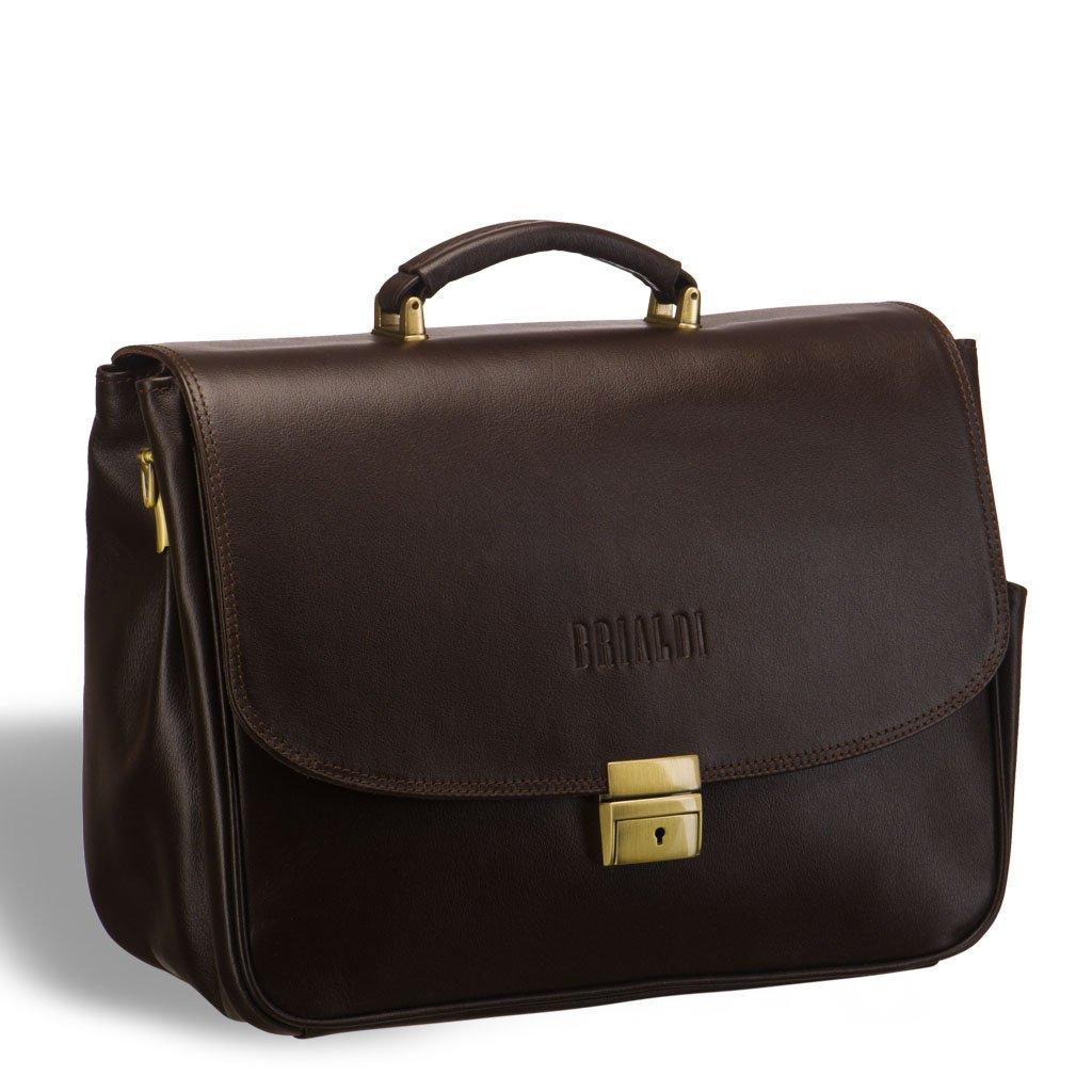 Купить со скидкой Вместительный деловой портфель BRIALDI Morton (Мортон) brown
