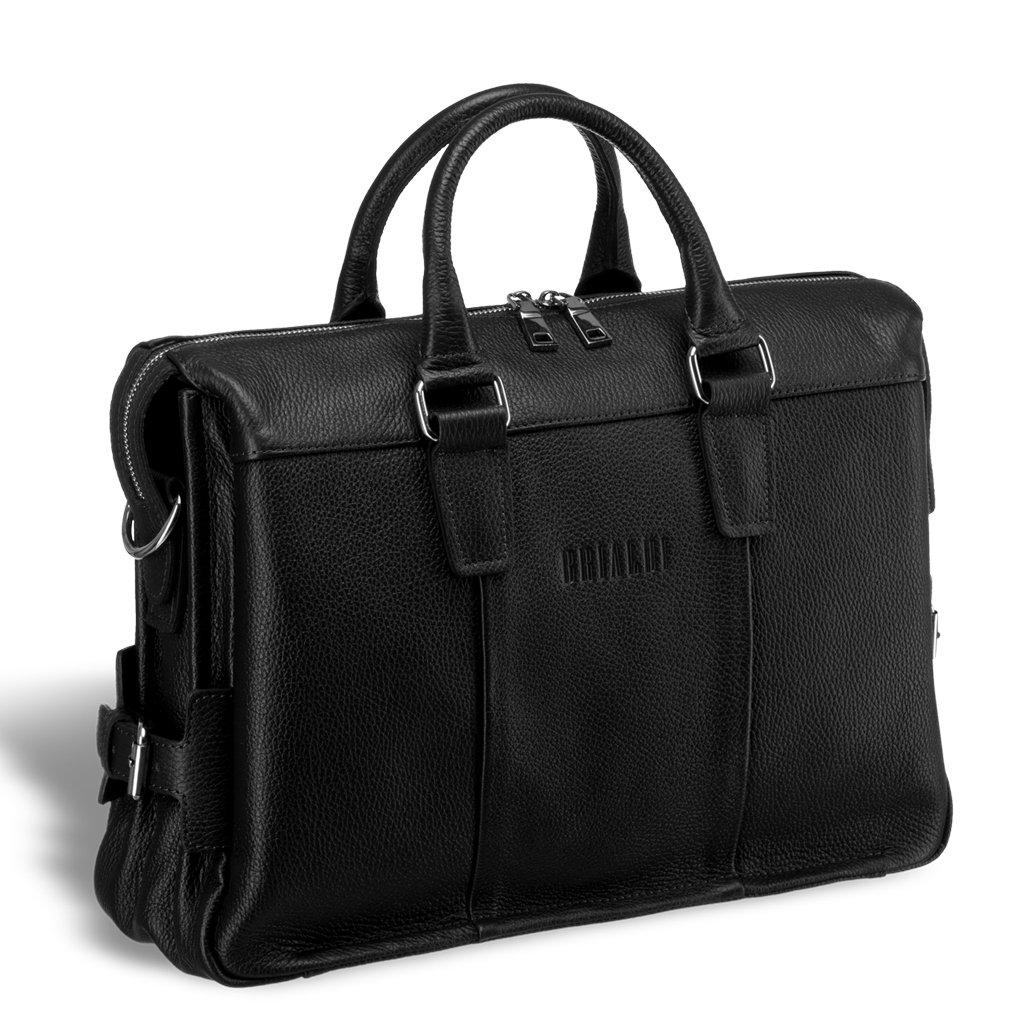 Купить Надежная мужская сумка для документов BRIALDI Bard (Бард) relief black, Италия, Черный, Натуральная кожа высококачественной выделки Canyon