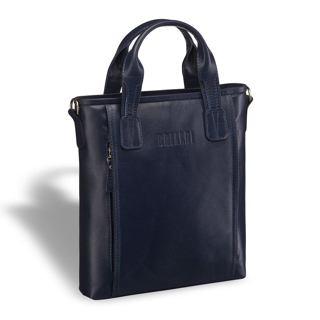 Купить Деловая сумка BRIALDI ?Formia (Формия) navy, Италия, Синий, Натуральная кожа высококачественной выделки Great Nappa