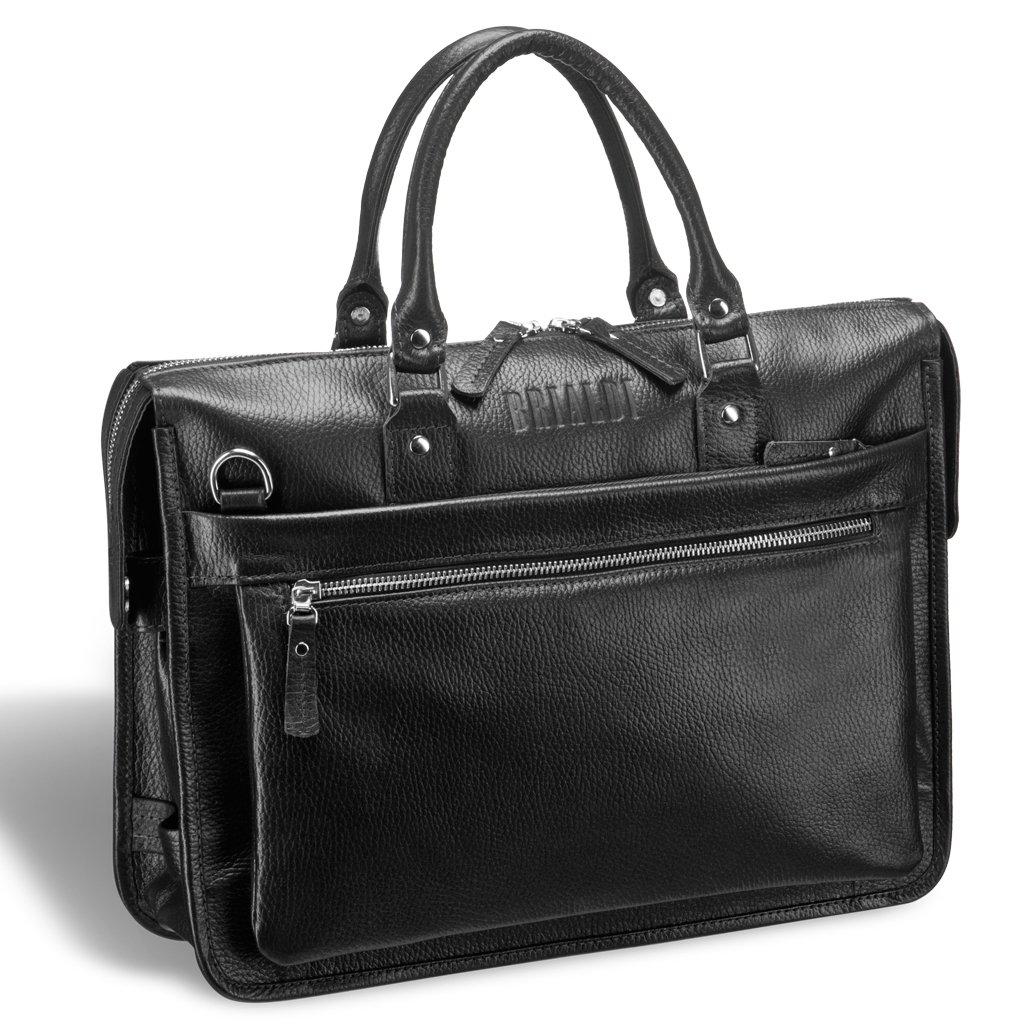 Купить Классическая деловая сумка для документов BRIALDI Pascal (Паскаль) relief black, Италия, Черный, Натуральная кожа высококачественной выделки Canyon