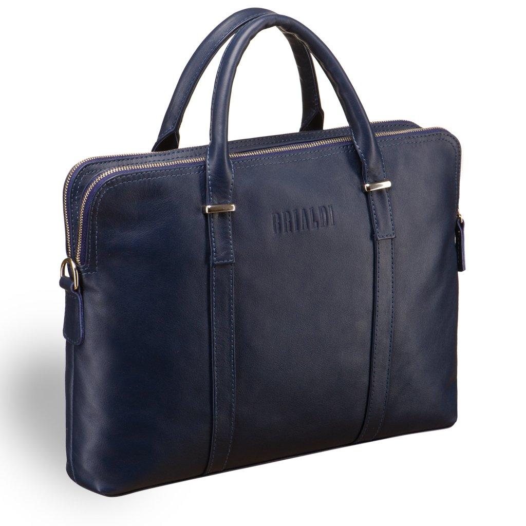 Купить Деловая сумка BRIALDI Durango (Дуранго) navy, Италия, Синий, Натуральная кожа высококачественной выделки Great Nappa