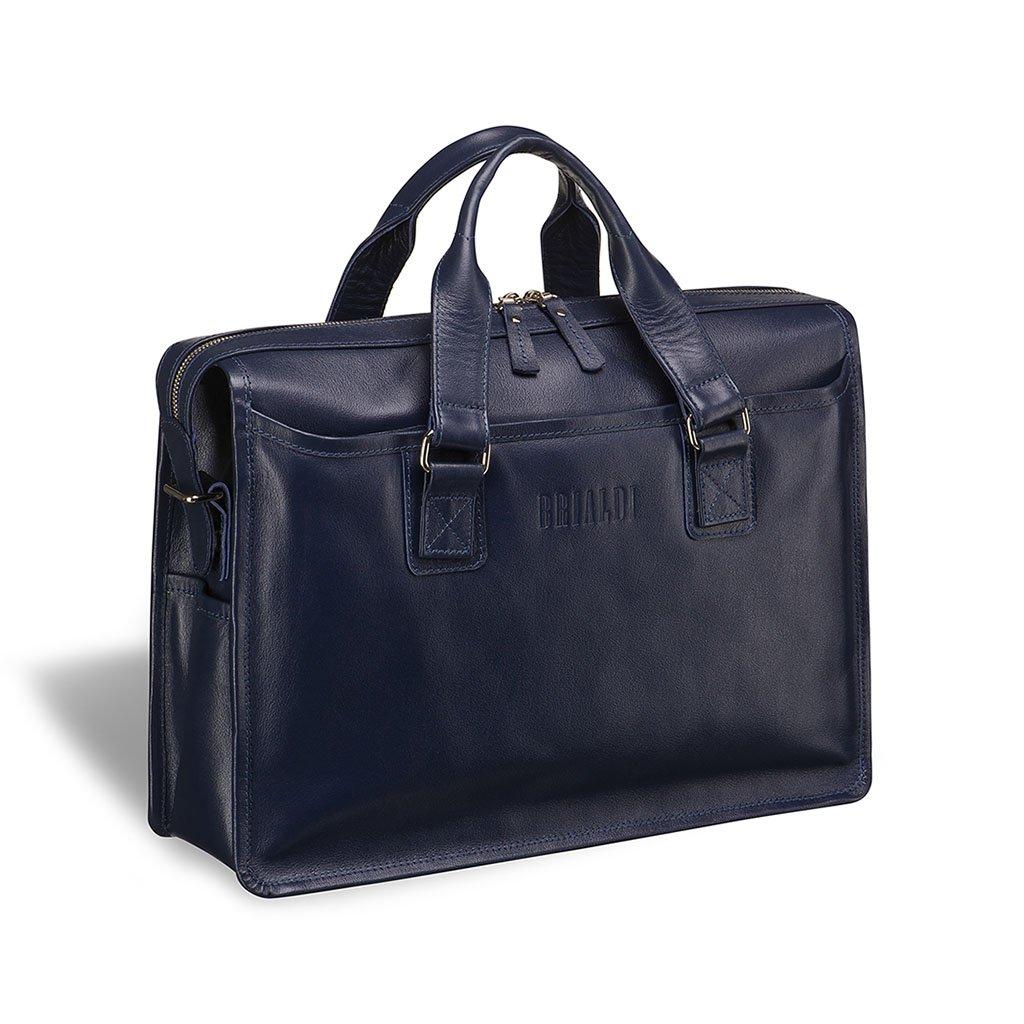 Купить Деловая сумка для документов BRIALDI Nelson (Нельсон) navy, Италия, Синий, Натуральная кожа высококачественной выделки, сорт Great Nappa
