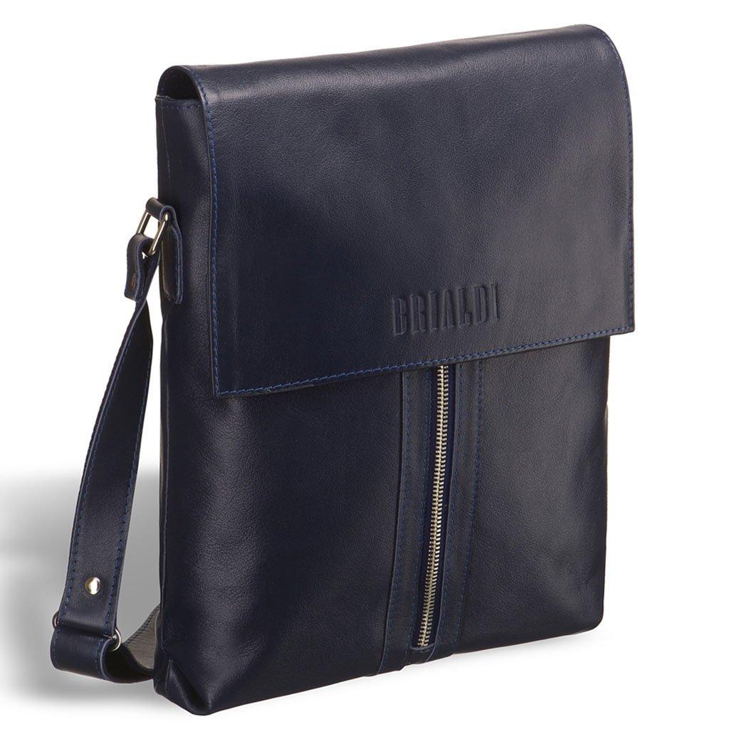 Купить со скидкой Кожаная сумка через плечо BRIALDI Positano (Позитано) navy