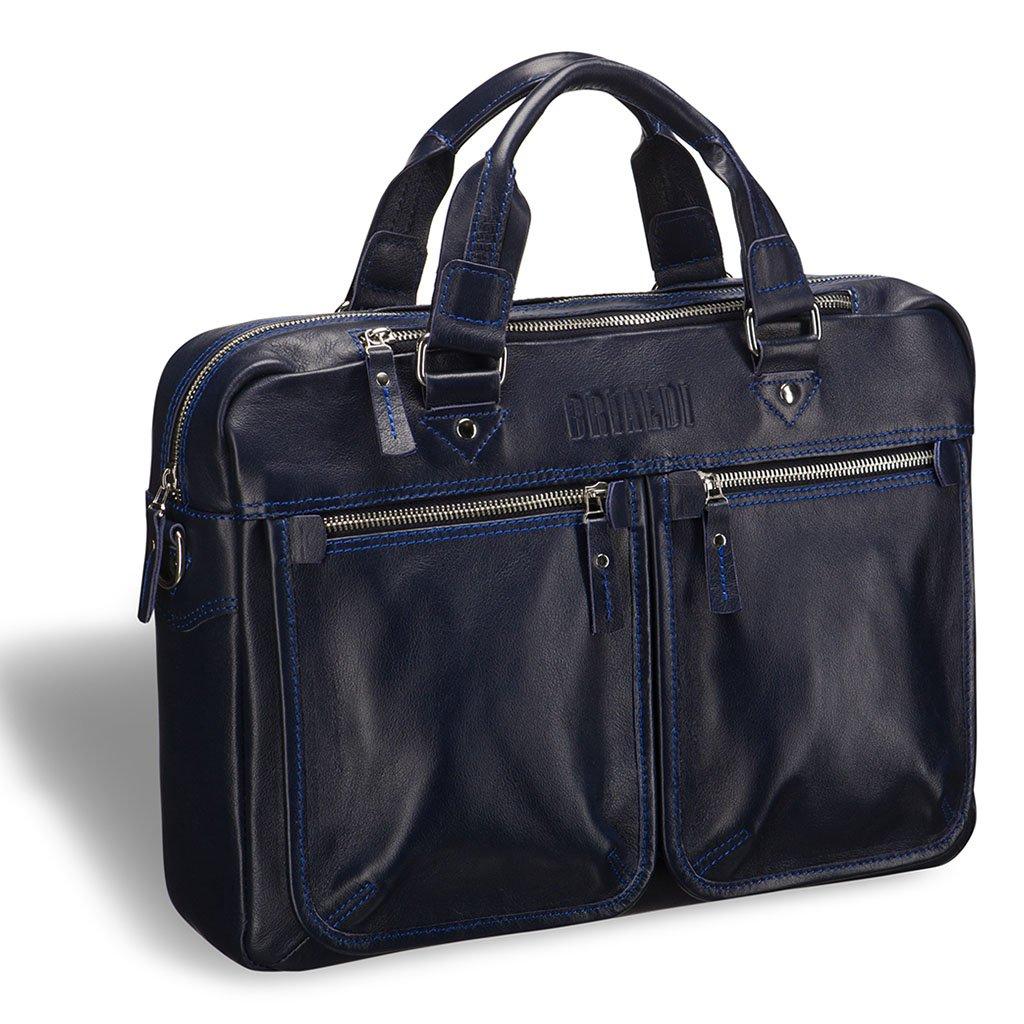 Купить Деловая сумка для документов BRIALDI Parma (Парма) navy, Италия, Синий, Натуральная кожа высококачественной выделки, сорт Great Nappa