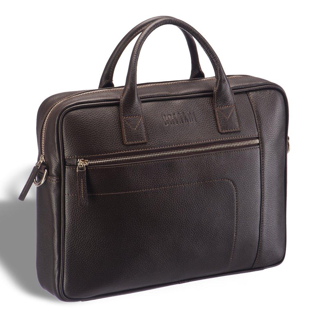 Купить со скидкой Классическая деловая сумка для документов BRIALDI Rochester (Рочестер) relief brown