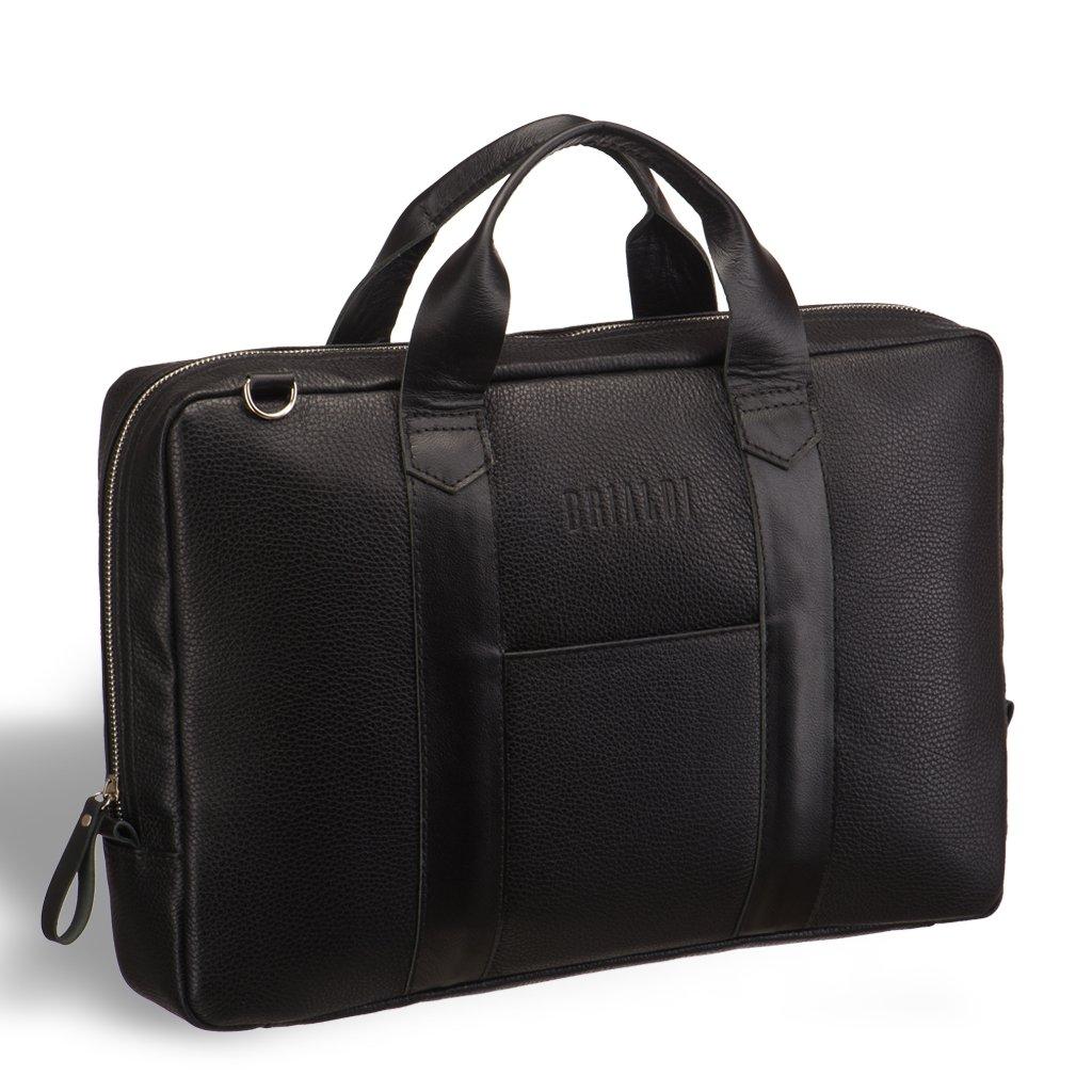 Купить со скидкой Удобная деловая сумка для документов BRIALDI Atengo (Атенго) black
