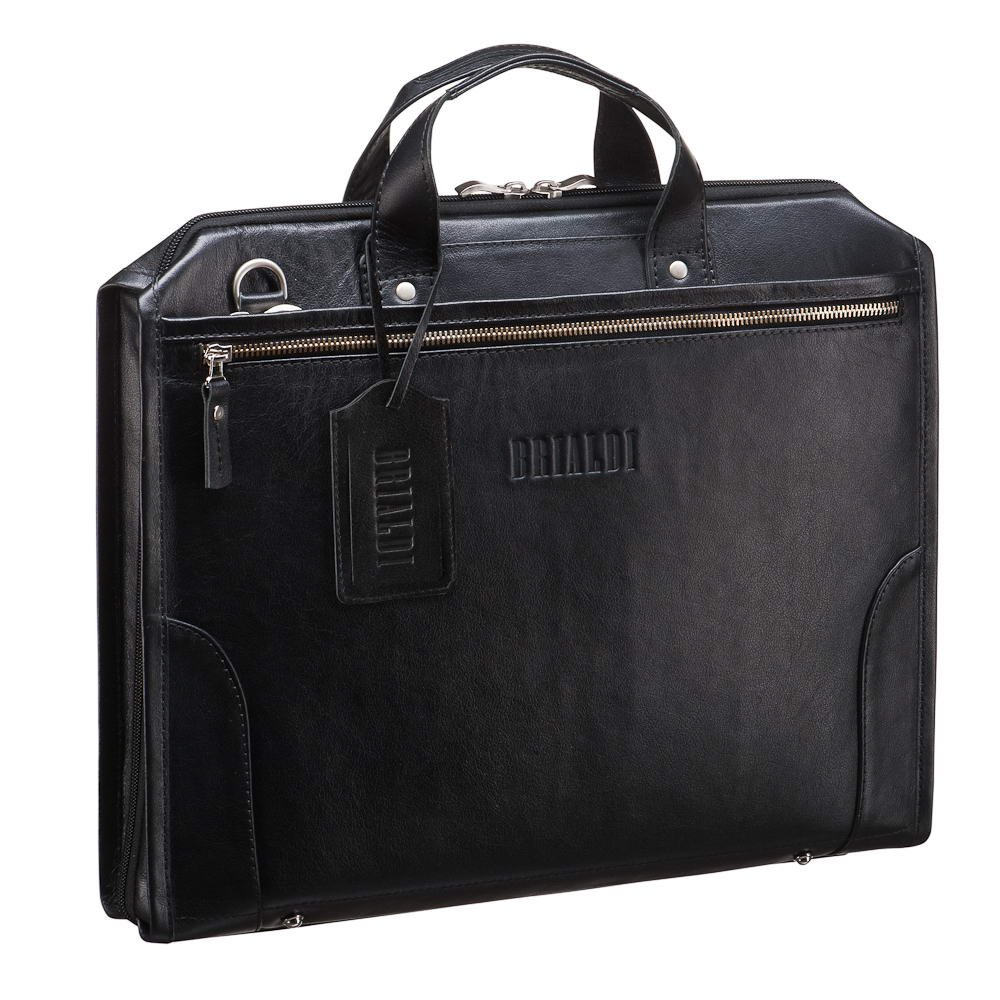 Купить Деловая сумка BRIALDI Plymouth (Плимут) black, Италия, Черный, Натуральная кожа высококачественной выделки, сорт GREAT NAPPA