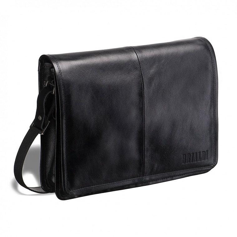 8f8a2e8c0d58 Кожаная сумка через плечо BRIALDI Ancona (Анкона) black купить по ...