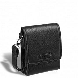 13a73d58 Кожаная сумка через плечо BRIALDI Grand Cleveland (Гранд Кливленд) relief  black ...