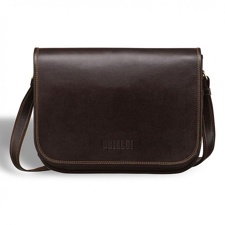 f445e2e655b7 Кожаная сумка через плечо BRIALDI Cambridge (Кембридж) brown купить ...
