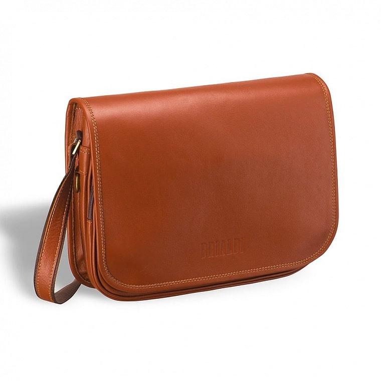 76e9c7109968 Кожаная сумка через плечо BRIALDI Cambridge (Кембридж) whiskey ...