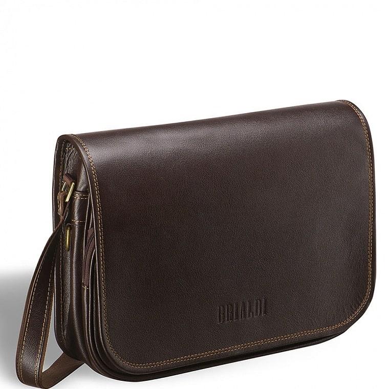 5d09c5b4ad4c Кожаная сумка через плечо BRIALDI Cambridge (Кембридж) brown купить по  оптимальной цене в интернет-магазине BRIALDI – доставка по Москве.