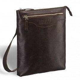 f6d602475359 ... Кожаная сумка через плечо BRIALDI Grado (Градо) brown - вид 2 ...