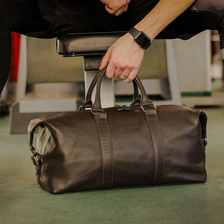 d4d03155effd Дорожно-спортивная сумка BRIALDI Liverpool (Ливерпуль) relief brown - вид 19