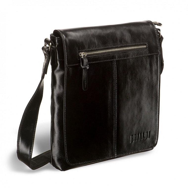 74104c42eb7b Кожаная сумка через плечо BRIALDI Livorno (Ливорно) shiny black ...