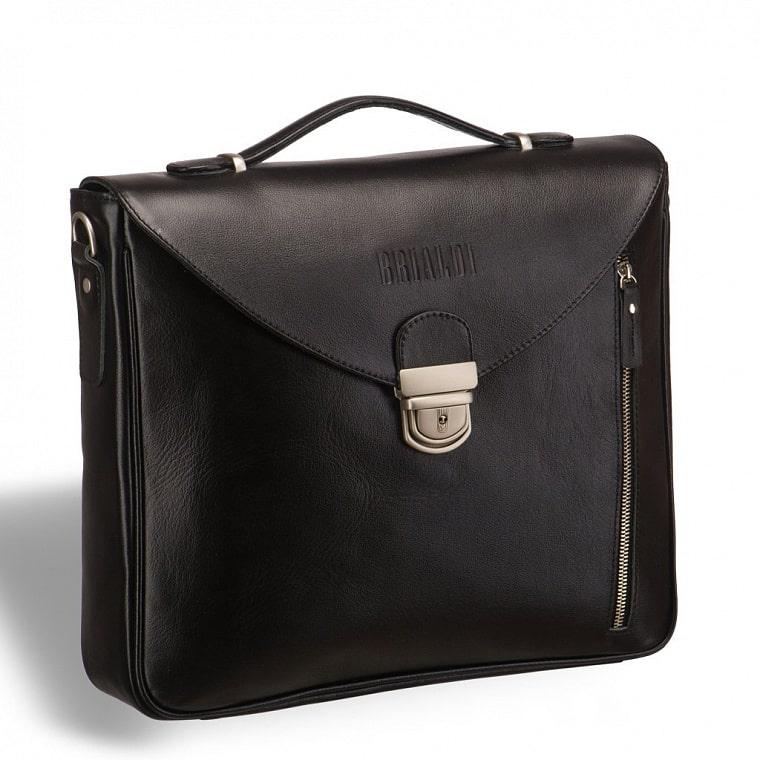 0ea720c96094 Вертикальный деловой портфель BRIALDI Planck (Планк) black купить по ...