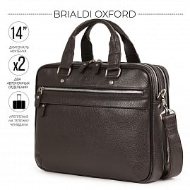 Деловая сумка BRIALDI Oxford‎ (Оксфорд) relief brown