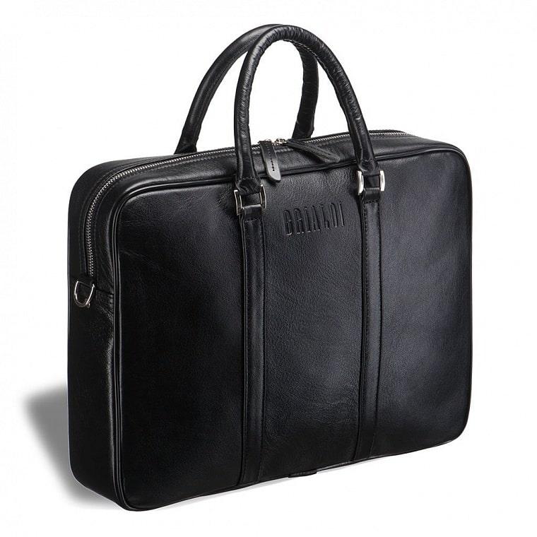 304c2f4a6b97 Деловая сумка BRIALDI Borno (Борно) black купить по самой низкой ...