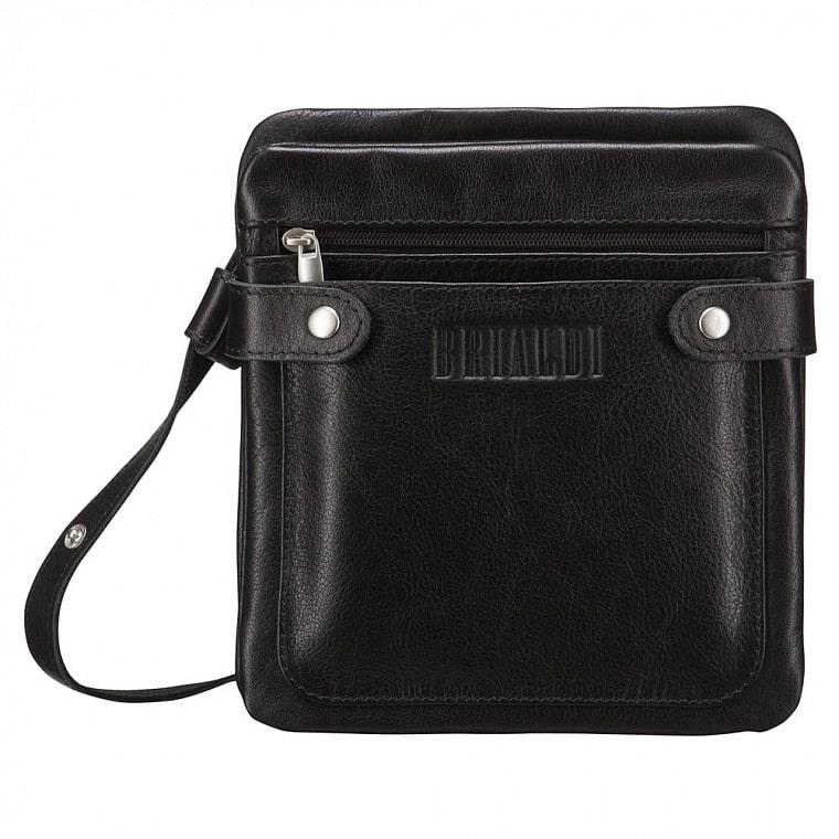 d08263a6ce69 Кожаная сумка через плечо BRIALDI Newport (Ньюпорт) black купить по ...