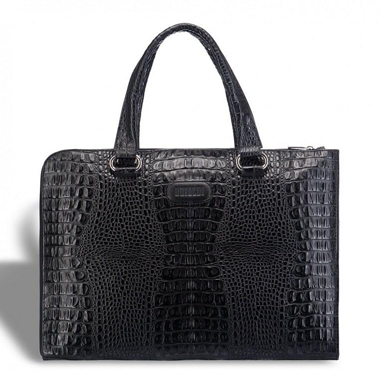 dc63a9b03672 Женская деловая сумка BRIALDI Aisa (Аиса) croco black купить по ...