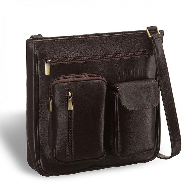 ffd864f054a0 Кожаная сумка через плечо BRIALDI Chester (Честер) brown купить по ...