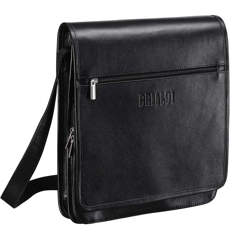 09cc502dcb96 Кожаная сумка через плечо BRIALDI Dallas (Даллас) black купить по ...