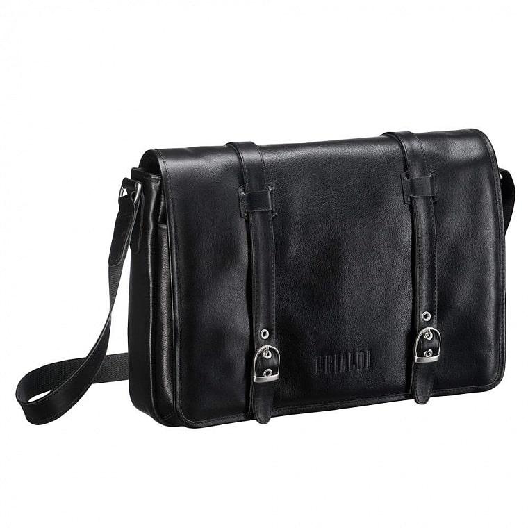 8841ce6f68b9 Кожаная сумка через плечо BRIALDI Turin (Турин) black купить по ...
