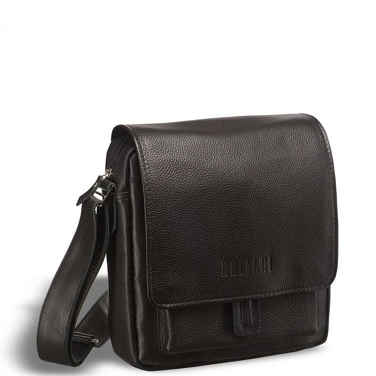 da6583a33597 Кожаная сумка через плечо BRIALDI Lucca (Лукка) black купить по ...