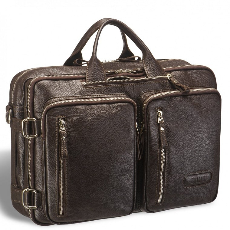 6b3e975fa5cb Мужская сумка-трансформер BRIALDI Norman (Норман) relief brown ...