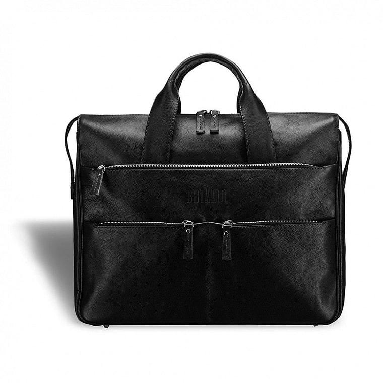 69a7fe39e695 Вместительная деловая сумка BRIALDI Manchester (Манчестер) black - вид 1