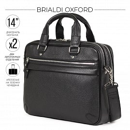 Деловая сумка BRIALDI Oxford‎ (Оксфорд) relief black
