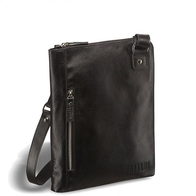 403d9319a7e8 Кожаная сумка через плечо BRIALDI Gaeta (Гаета) black купить по ...