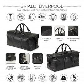29667d26ca06 ... Дорожно-спортивная сумка BRIALDI Liverpool (Ливерпуль) relief black -  вид 2 ...
